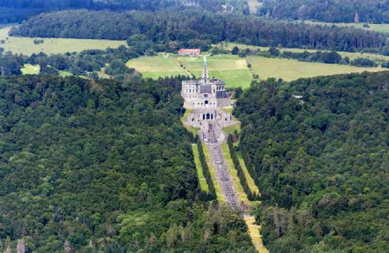 Castle of with Herkules on Schlosspark in the district Bad Wilhelmshoehe in Kassel in the state Hesse, Germany