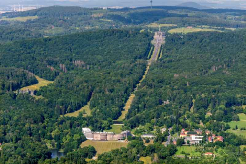 Park of Bergpark Wilhelmshoehe in Kassel in the state Hesse, Germany