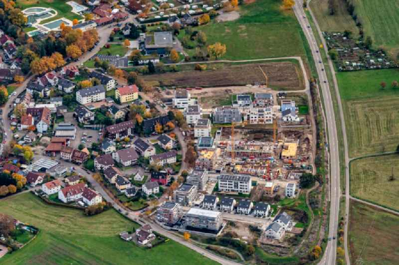 Construction site for the new building Einfamilienhaus Siedlung in Kirchzarten in the state Baden-Wurttemberg, Germany