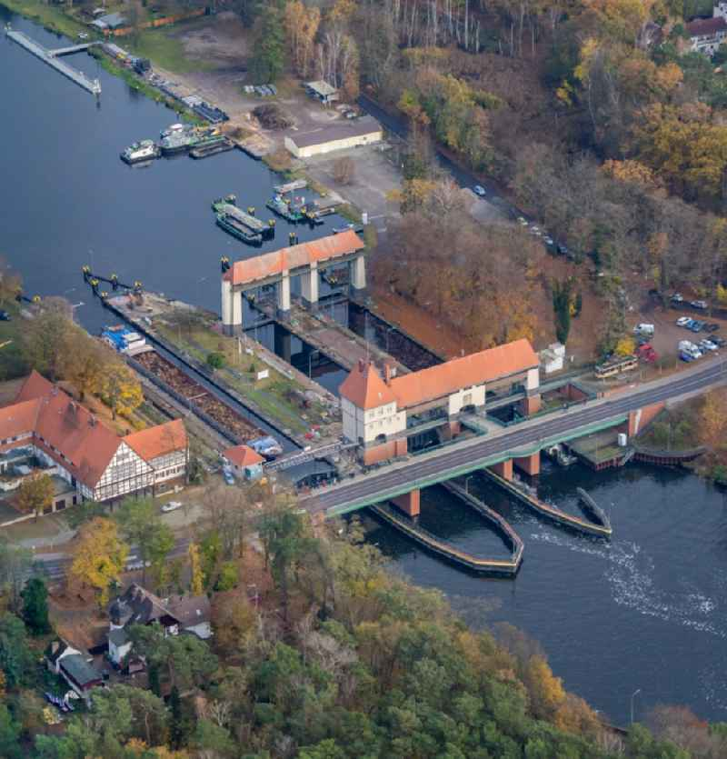 The monumental sluice in Kleinmachnow, is the most remarkable building of the Teltow canal