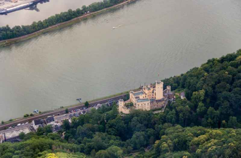 Castle of the fortress Stolzenfels on Schlossweg in Koblenz in the state Rhineland-Palatinate, Germany