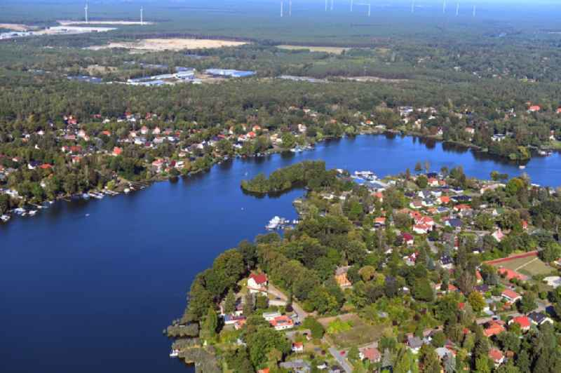 Village on the banks of the area Krimnicksee - Kruepelsee in Koenigs Wusterhausen in the state Brandenburg