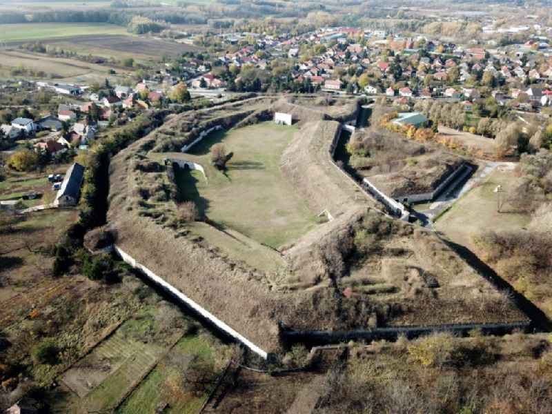 Fragments of the fortress in Komarom in Komarom-Esztergom, Hungary