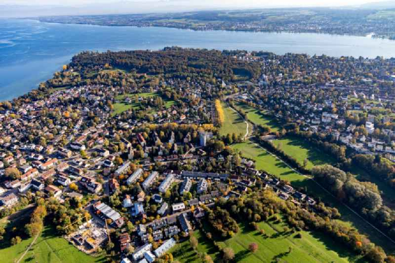 Village on the lake bank areas called Hoernle on Lake of Constance in the district Staad in Konstanz in the state Baden-Wurttemberg, Germany