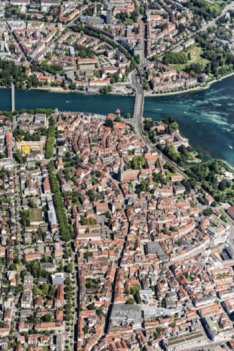 Old Town area and city center in Konstanz in the state Baden-Wuerttemberg, Germany