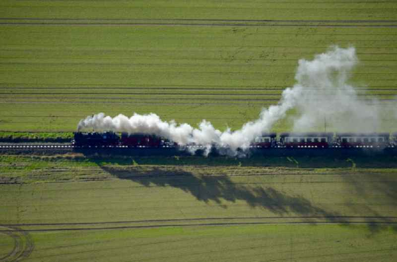 Steam train Molli in Kuehlungsborn in the state Mecklenburg - Western Pomerania, Germany