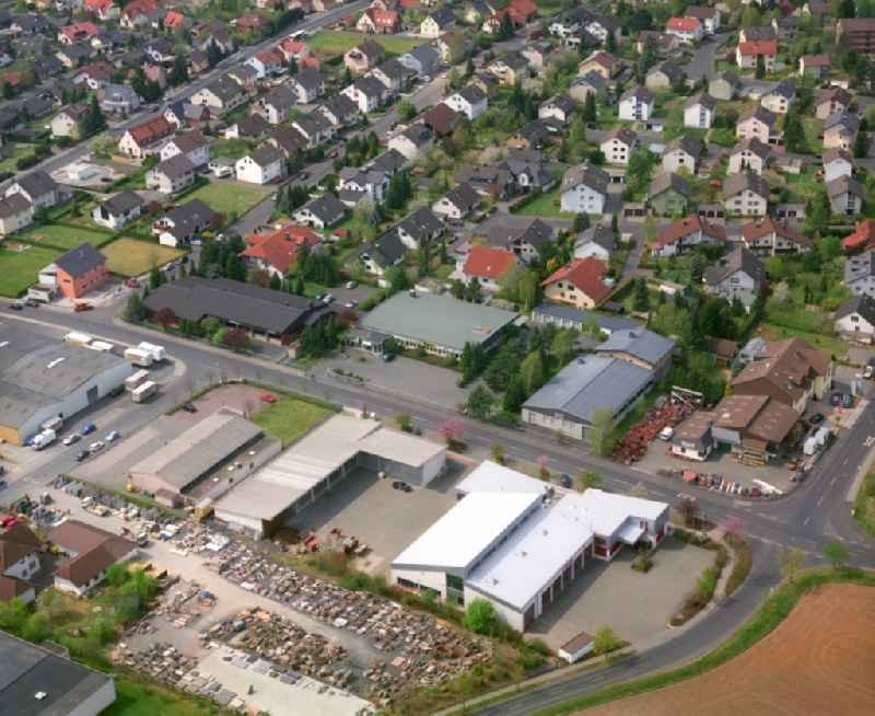 Industrial estate and company settlement on Johann-Friedrich-Boettger Strasse in the district Bachrain in Kuenzell in the state Hesse, Germany