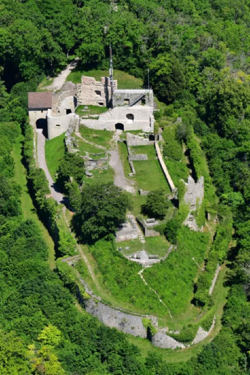 Ruins and vestiges of the former castle Kuessaburg in Kuessaberg in the state Baden-Wuerttemberg, Germany
