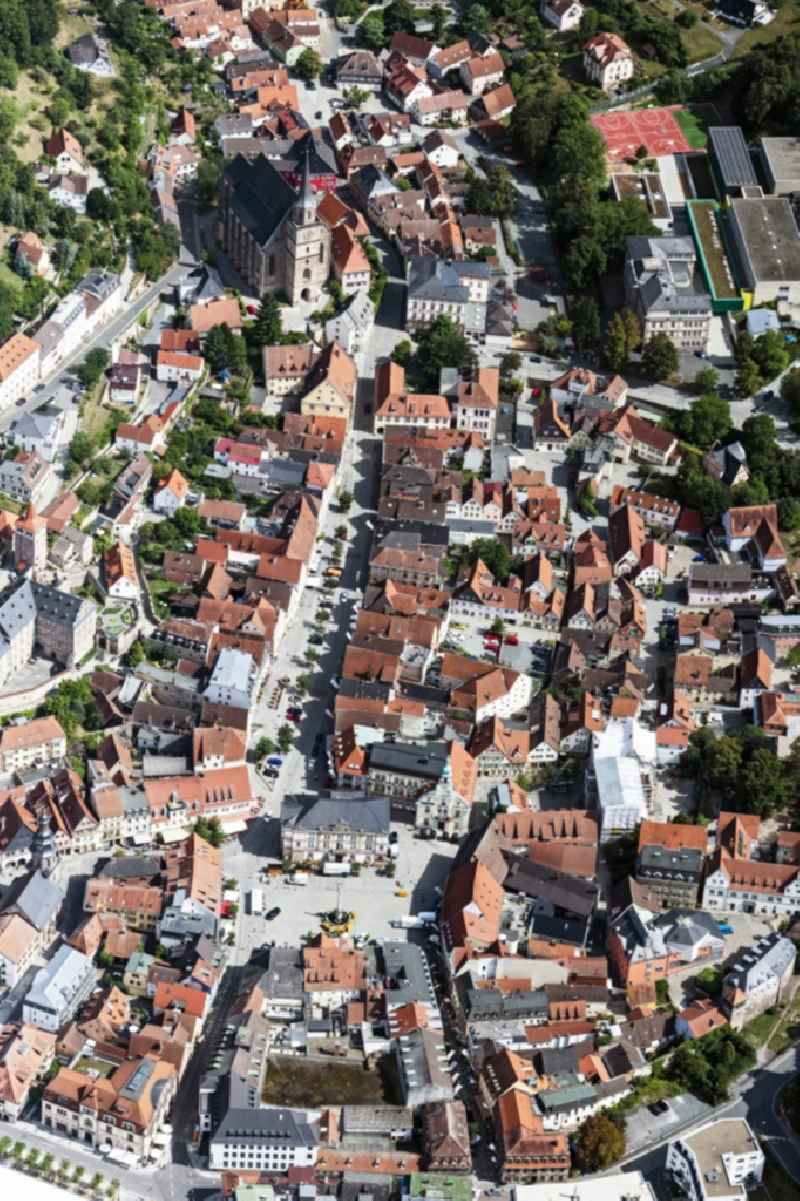 Down town area in Kulmbach in the state Bavaria, Germany