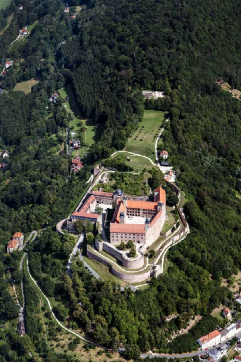 Castle of the fortress Plassenburg on Festungsberg in Kulmbach in the state Bavaria, Germany