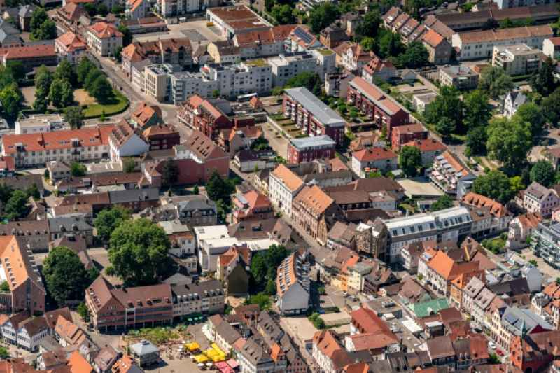 The city center in the downtown area in Lahr/Schwarzwald in the state Baden-Wuerttemberg, Germany