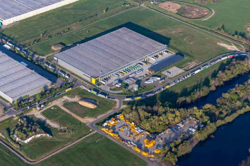 Company grounds and facilities of DSV Road GmbH, Lahr Logistics, pellets2go, ARGE BSA Lahr in Lahr/Schwarzwald in the state Baden-Wurttemberg, Germany