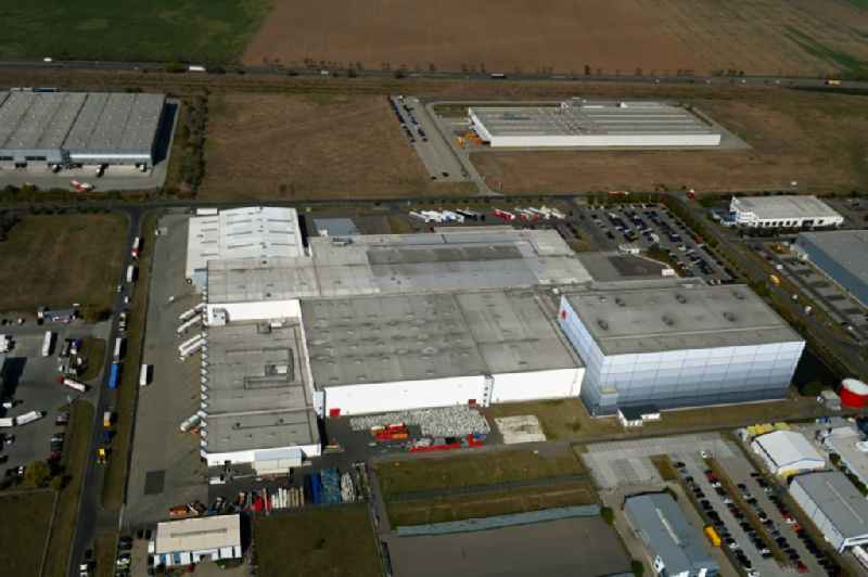 Building complex and distribution center on the site of Rossmann Logistik on Bitterfelof Strasse in Landsberg in the state Saxony-Anhalt, Germany
