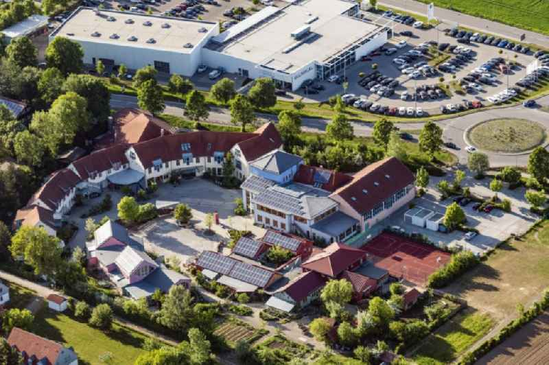 School grounds and buildings of the Freie Waldorfschule in Landsberg am Lech in the state Bavaria, Germany