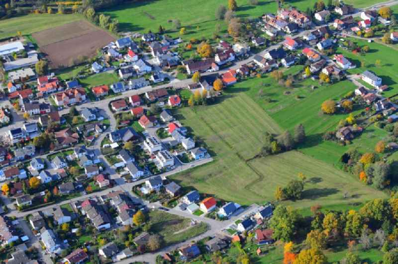 Outskirts residential in Langenau in the state Baden-Wuerttemberg, Germany