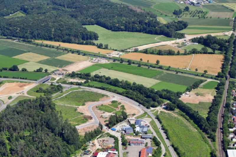 Construction of the bypass road in in Lauchringen in the state Baden-Wuerttemberg, Germany