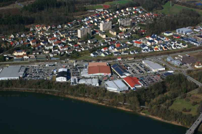 Industrial estate and company settlement at the river Rhine in Laufenburg in the state Baden-Wuerttemberg
