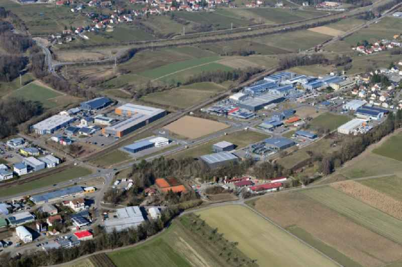 Industrial estate and company settlement East in the district Luttingen in Laufenburg in the state Baden-Wurttemberg, Germany