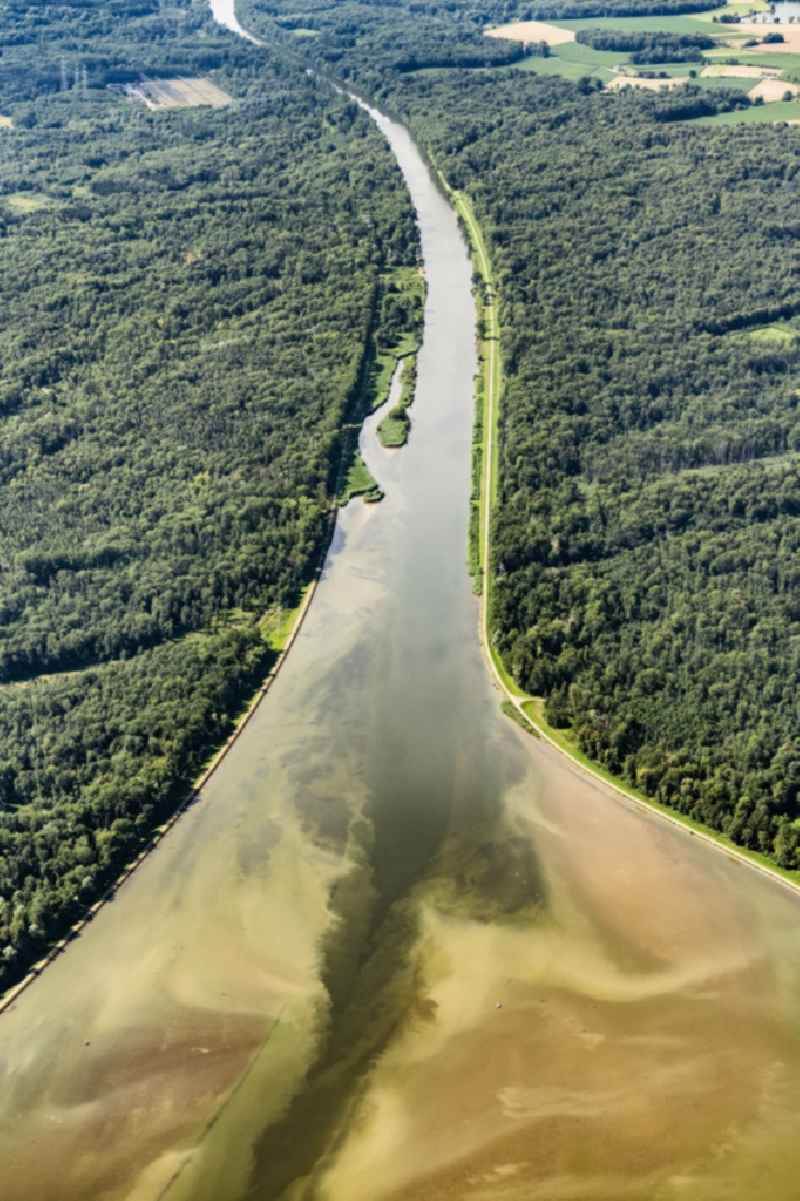 River Delta and estuary of the river Danube in Lauingen in the state Bavaria, Germany