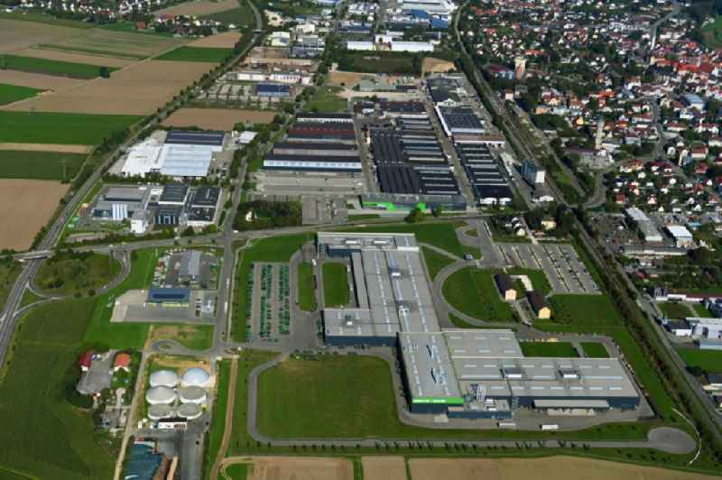 Buildings and production halls on the vehicle construction site of Deutz Fahr Land in Lauingen in the state Bavaria, Germany