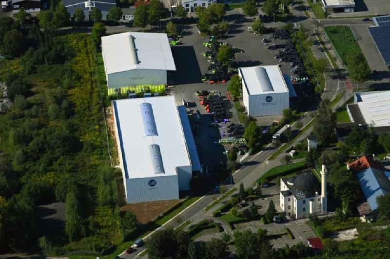 Building and production halls on the premises of Zill GmbH & Co. KG in Lauingen in the state Bavaria, Germany