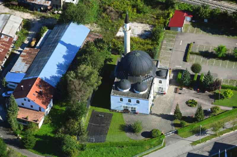 Building of the mosque Hicret on Wittislinger Strasse in Lauingen in the state Bavaria, Germany