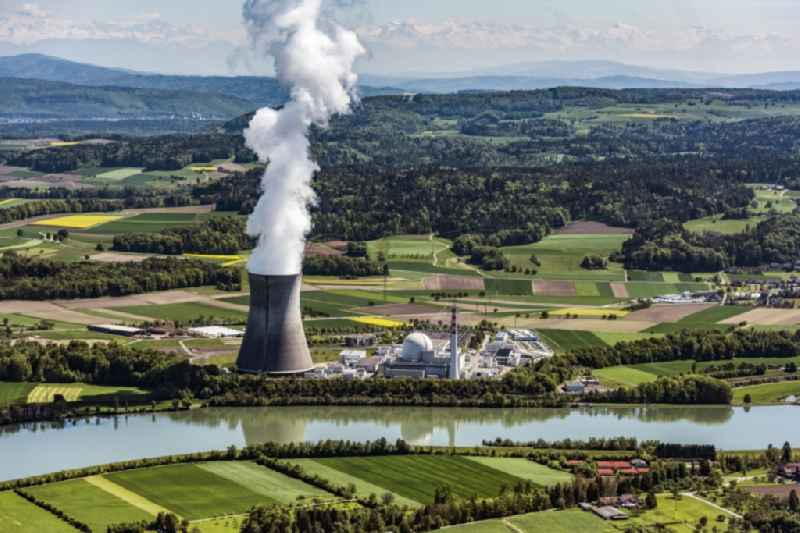 Site of the nuclear power plant (NPP also, NPP or nuclear power plant) in Leibstadt in the canton Aargau, Switzerland