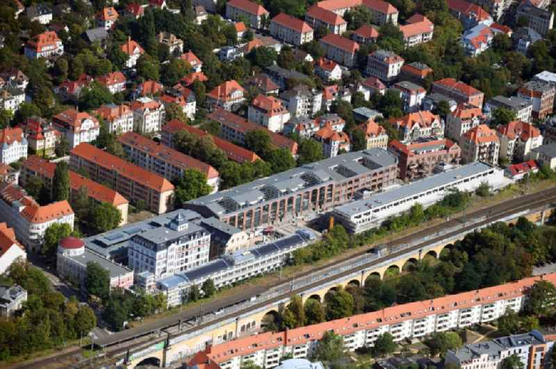 Construction site for the conversion and expansion of the listed old building buildings of the 'Bleichertwerke' in the district of Gohlis in Leipzig in the state of Saxony, Germany. Further information at: CG Gruppe AG,  FUCHSHUBER ARCHITEKTEN GMBH.