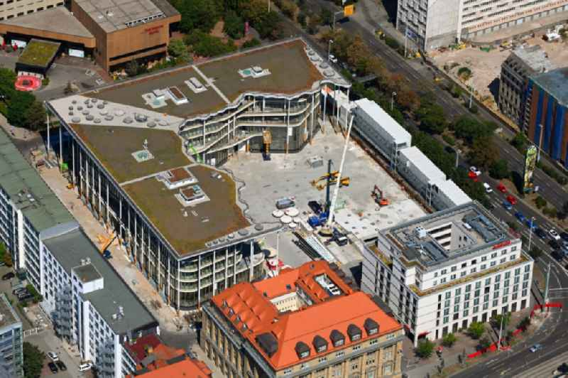 Construction site of banking administration building of the financial services company SAB - Forum - Saechsische Aufbaubank in Leipzig in the state Saxony, Germany
