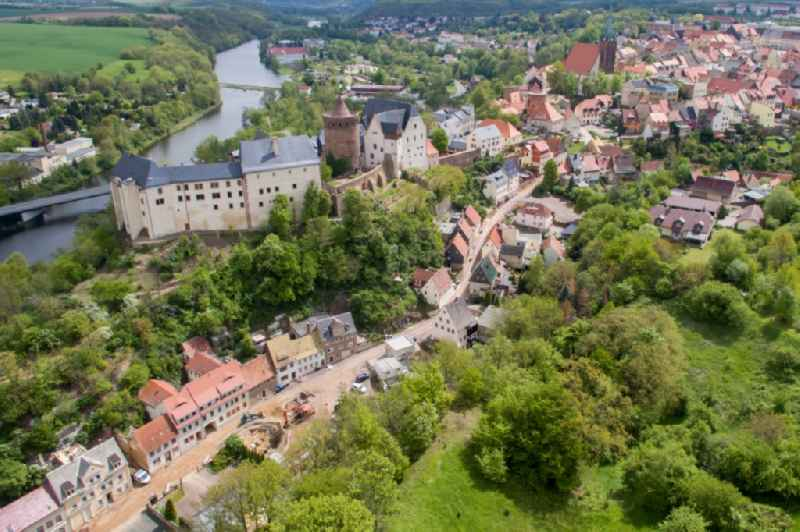 Castle of the fortress Mildenstein on Schlossberg in Leisnig in the state Saxony, Germany