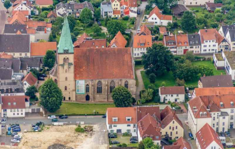 Church building St. Marien in Lemgo in the state North Rhine-Westphalia, Germany
