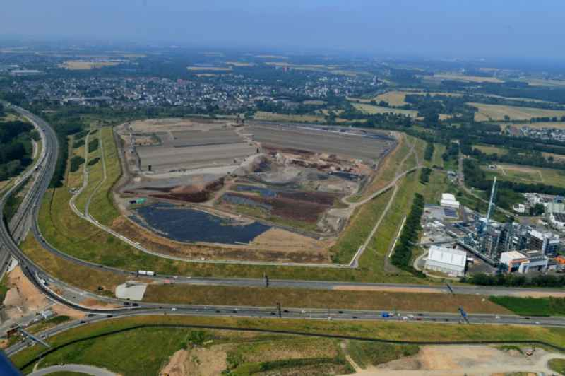Renovation, sealing and restoration work on the site of the refurbished landfill in the district Wiesdorf in Leverkusen in the state North Rhine-Westphalia, Germany. Further information at: BASF SE.