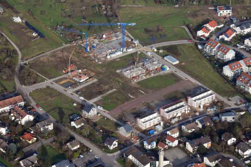 Construction sites for the new residential area Belist of detached housing estate in the district Haagen in Loerrach in the state Baden-Wurttemberg, Germany.