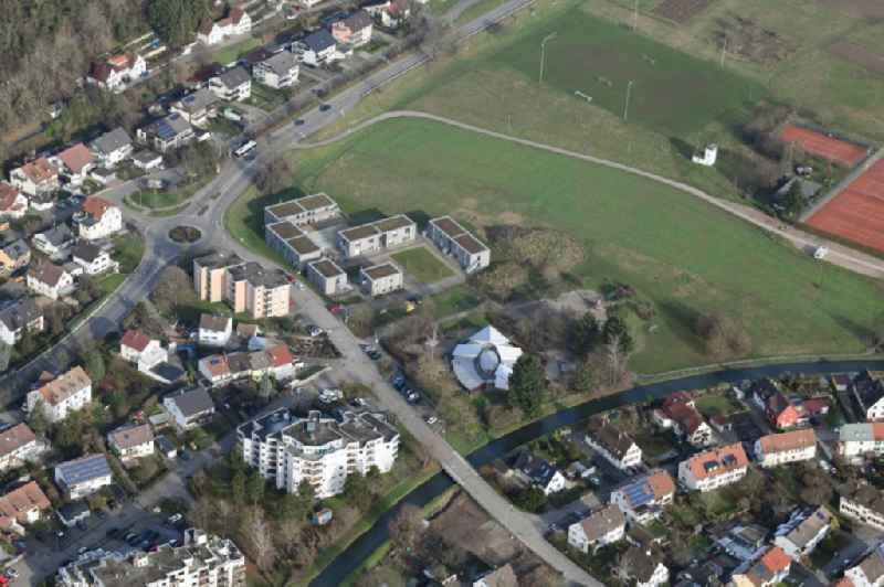 Refugee - buildings beside the Kindergarten ' Arche Noah ' in the district Haagen in Loerrach in the state Baden-Wurttemberg, Germany.