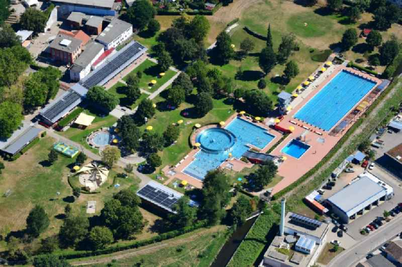 Swimming pool of the ' Parkschwimmbad ' in Loerrach in the state Baden-Wuerttemberg, Germany