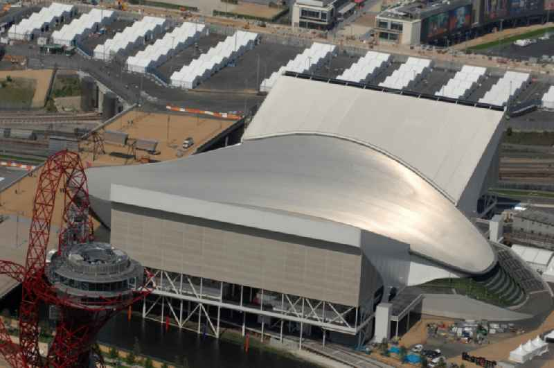 The London Aquatics Centre is an indoor facility and is situated in Olympic Park at Stratford in east London one of the Olympic and Paralympic venues for the 2012 Games in Great Britain