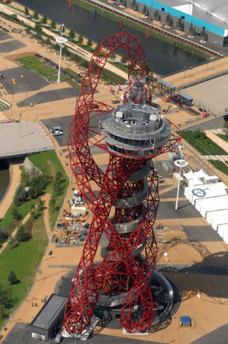 The ArcelorMittal Orbit is a 115-metre-high ( 377 ft ) observation tower in the Olympic Park in Stratford, London and is intended to be a permanent, lasting legacy of the Olympic and Paralympic Games 2012  in Great Britain