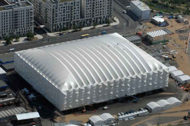 The temporary Basketball Arena located in the Olympic Park in Stratford and one Olympic and Paralympic venues for the 2012 Games in Great Britain