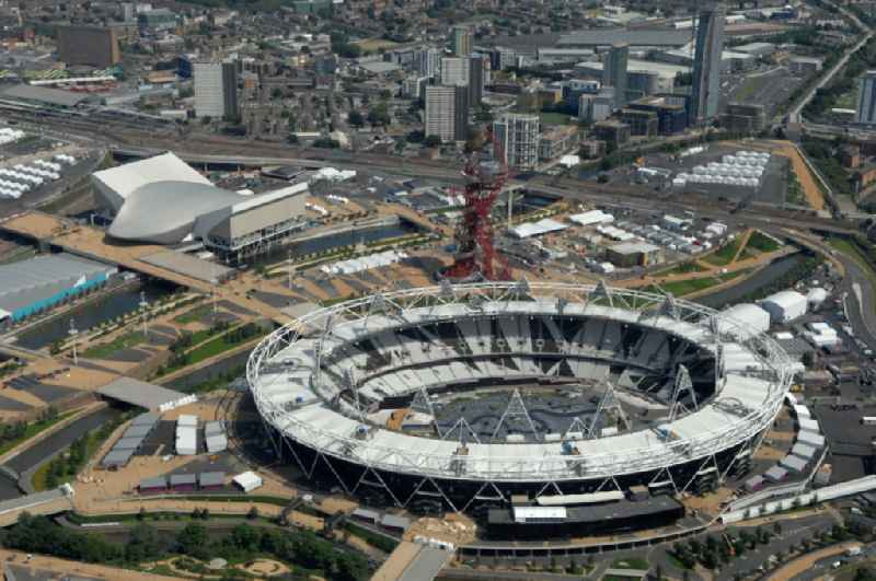 The Olympic Stadium in Olympic Park, London, England, is designed to be the centrepiece of the 2012 Summer Olympics and 2012 Summer Paralympics, and the venue of the athletic events as well as the Olympic Games opening and closing ceremonies in Great Britain