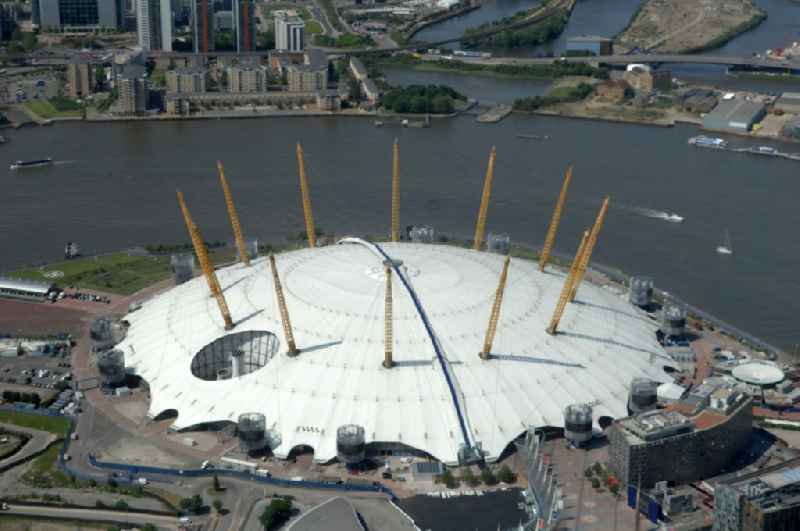 The O2 Arena is a multi-purpose indoor arena and large entertainment complex on the Greenwich peninsula and one of the Olympic and Paralympic venues for the 2012 Games in England, Great Britain.