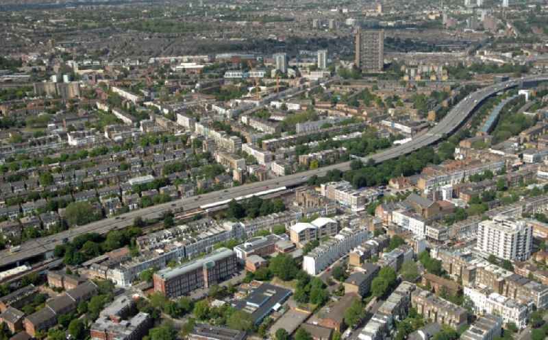 District view of the Royal Borough of Kensington and Chelsea in London in the county Greater London in the UK