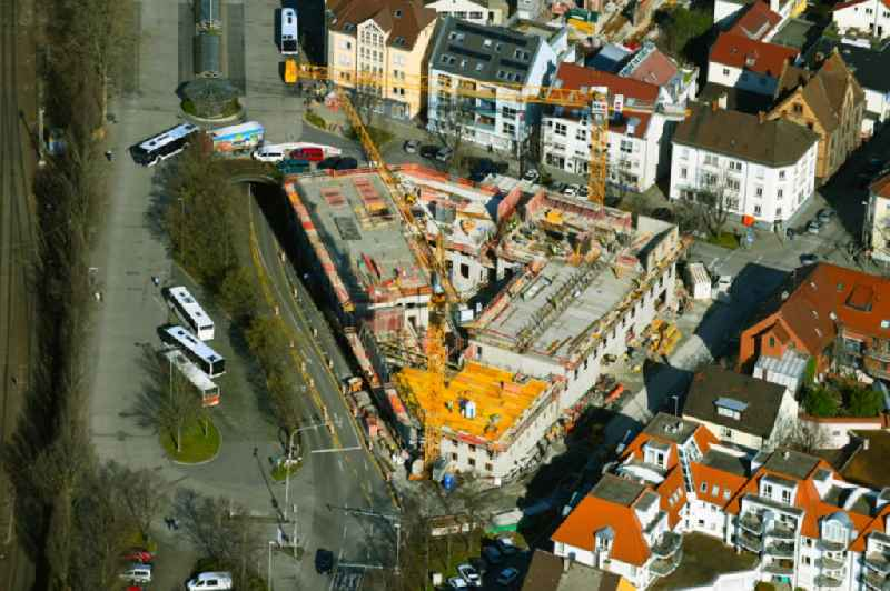New construction of a residential and commercial building on 'Kallenberg'sches Gelaende' on Bahnhofstrasse in Ludwigsburg in the state Baden-Wurttemberg, Germany
