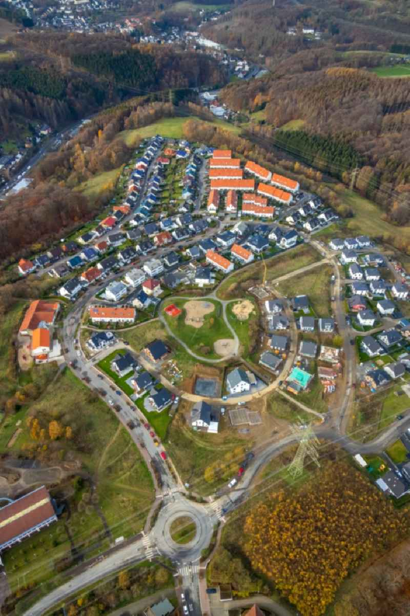 Outskirts residential in the district Vogelberg in Luedenscheid in the state North Rhine-Westphalia, Germany.