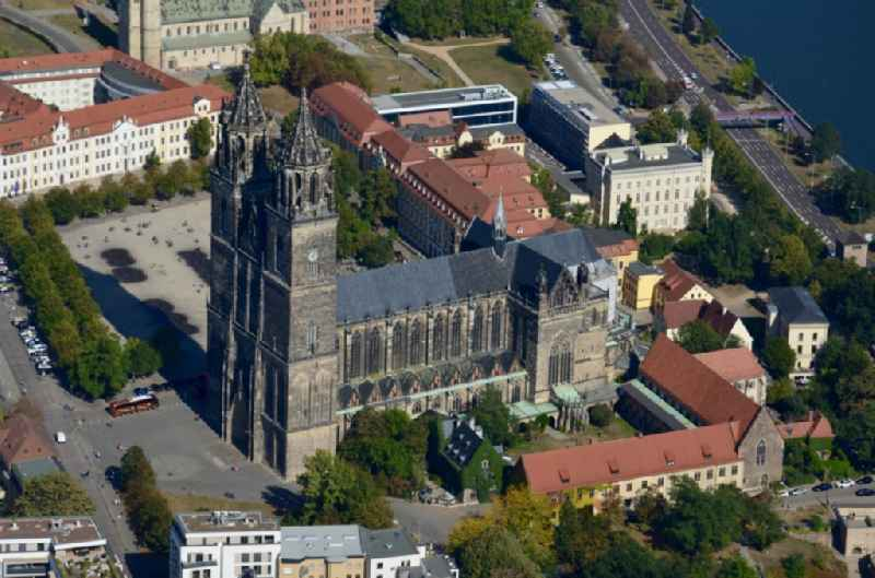 Church building of the cathedral in the district Altstadt in Magdeburg in the state Saxony-Anhalt