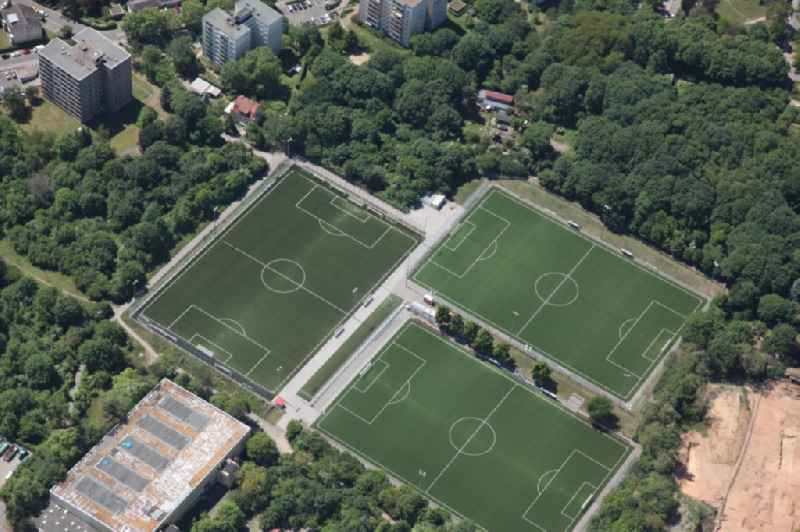 Sports grounds and football pitch of 1. FSV Mainz 05 in Mainz in the state Rhineland-Palatinate, Germany, Training grounds in the area of the Bruchweg Stadium