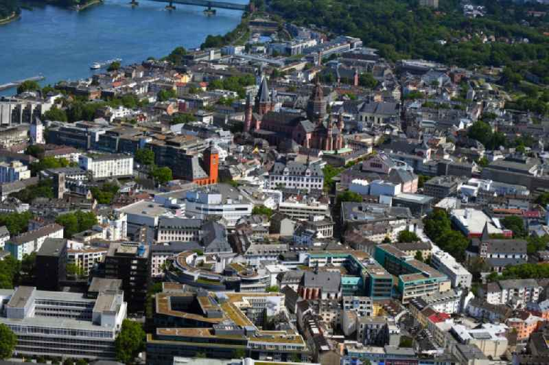 Old Town area and city center in the district Altstadt in Mainz in the state Rhineland-Palatinate, Germany