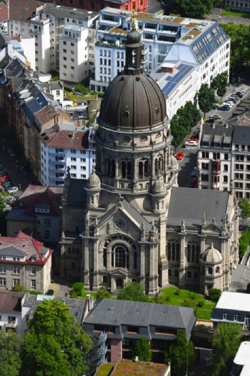Church building of the cathedral of Christuskirche Mainz on Kaiserstrasse in Mainz in the state Rhineland-Palatinate, Germany
