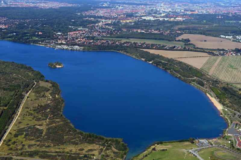 Riparian areas on the lake area of ' Markkleeberger See ' in Markkleeberg in the state Saxony, Germany