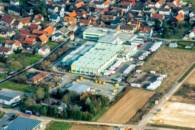 Company grounds and facilities of Mewa Textilsevice and Ortsteil Kuerzel in Meissenheim in the state Baden-Wurttemberg, Germany