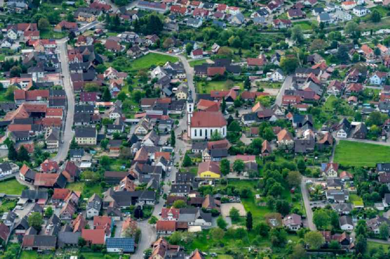 Town View of the streets and houses of the residential areas in Meissenheim in the state Baden-Wurttemberg, Germany